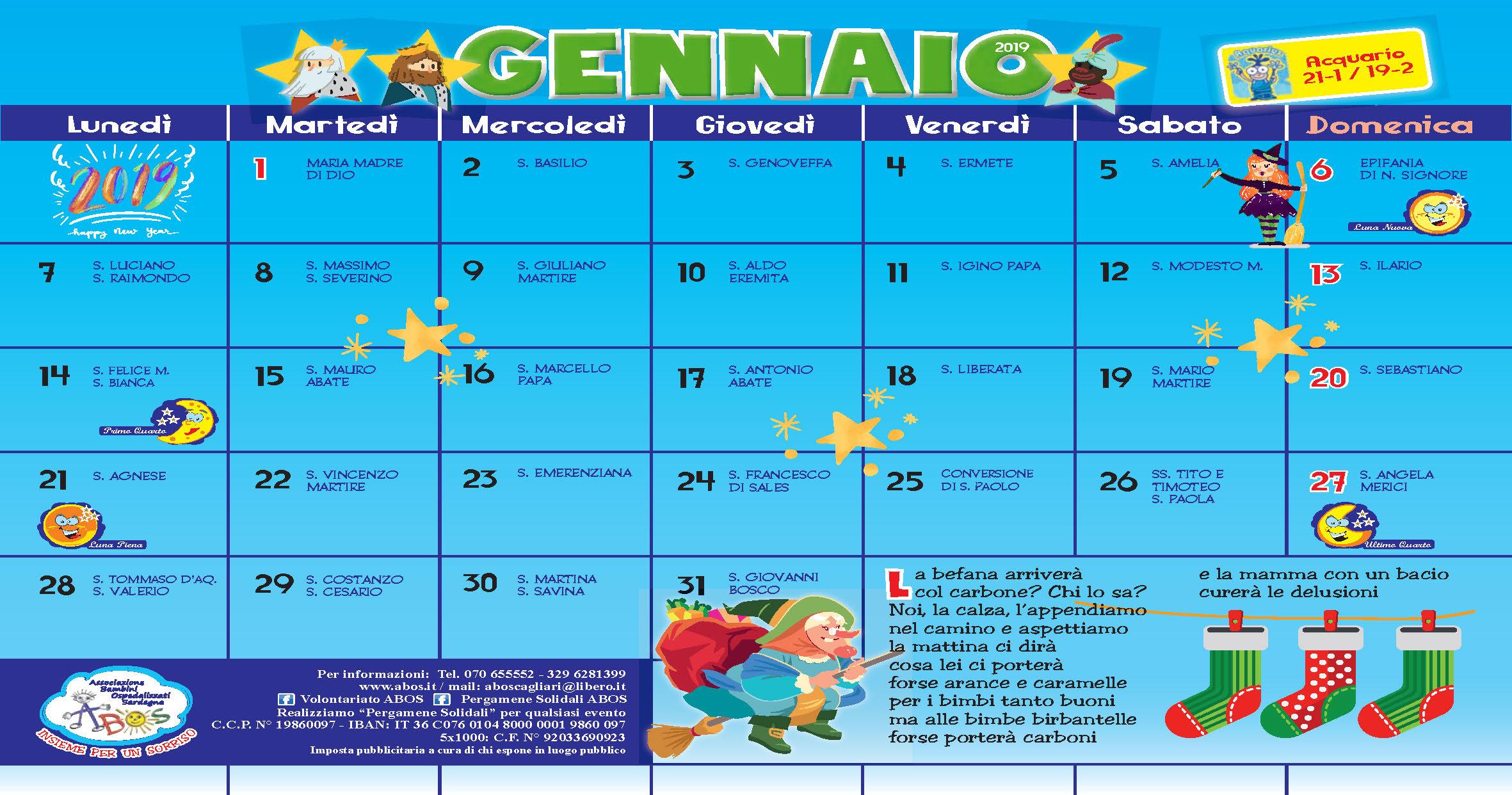 Calendario Giuliano Conversione.Calendario 2019 Abos